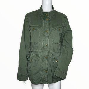 Gap Military Jacket Army Green Multiple Pockets